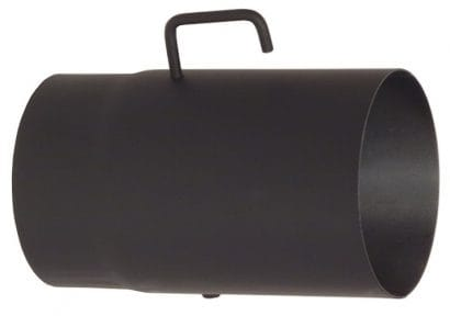 Roura s klapkou 160/250/2mm černá Silaterm