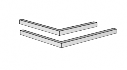 Podpěra pláště krbu – rohový překlad 90° 1200×800 Brula