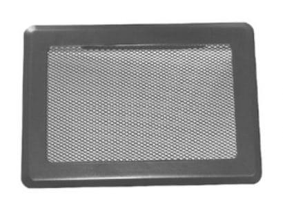 Ventilační mřížka SOLID 195×485 bez žaluzie černá Karl