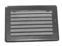 Ventilační mřížka SOLID 195×485 s žaluzií černá Karl