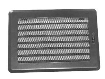 Ventilační mřížka SOLID 195×335 s žaluzií černá Karl