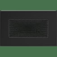 Krbová mřížka 11×17 černá Kratki