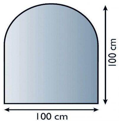 Sklo pod kamna půloblouk 100/100 cm tl. 8mm Lienbacher