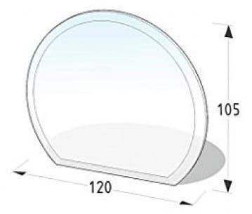 Sklo pod kamna část kruh 105/120 cm. tl. 8mm Lienbacher