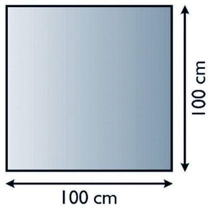 Sklo pod kamna čtverec 100/100 cm tl. 8mm Lienbacher