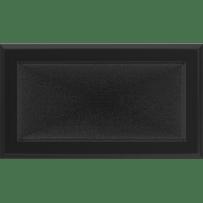 Krbová mřížka 17×30 černá Kratki