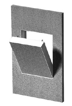 Revizní dvířka pro krby SILADOOR 400×500, instalace na výšku Silaterm