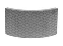 Akumulační deska s omítnutým povrchem, kruhový prvek R300 Brula
