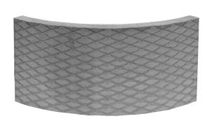 Akumulační deska s omítnutým povrchem, kruhový prvek R330 Brula