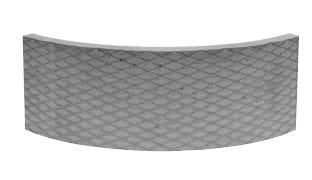 Akumulační deska s omítnutým povrchem, kruhový prvek R440 Brula