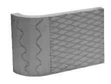 Akumulační deska s omítnutým povrchem – roh 90° – R100 Brula
