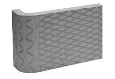 Akumulační deska s omítnutým povrchem – roh 90° – R70 Brula