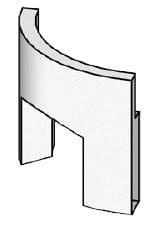 BRULApor sokl radius s klenbou R440 Brula