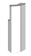 BRULApor sokl rohový díl 135° Brula