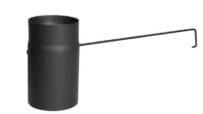 Trubka s klapkou – dlouhé táhlo 180/250/2mm černá Silaterm