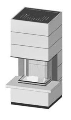 SIM Arte 3RL-60h-4S s parapetem jemný beton 1/3
