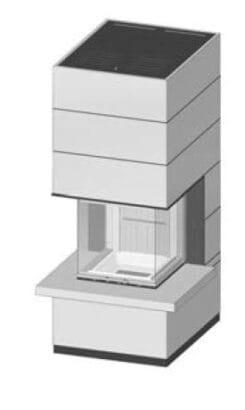 SIM Arte-U-50h-4S s parapetem jemný beton 1/3
