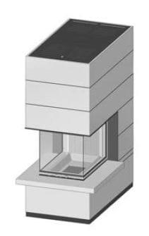 SIM Arte-U-70h-4S s parapetem jemný beton 1/3