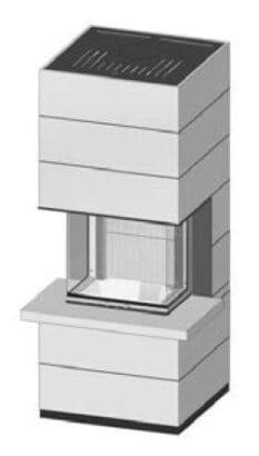 SIM Arte 3RL-60h-4S s parapetem přírodní beton 2/3