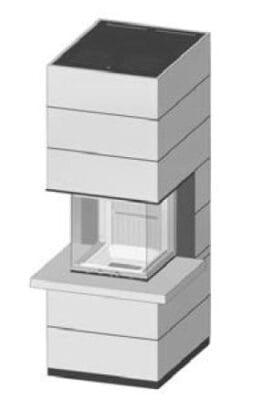 SIM Arte-U-50h-4S s parapetem přírodní beton 2/3