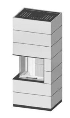 SIM Varia 2L-55h-4S přírodní beton 2/3