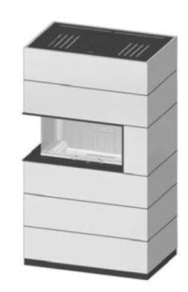 SIM Varia AS-2Rh-4S přírodní beton 3/2