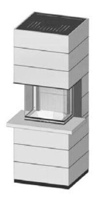 SIM Arte 3RL-60h-4S s parapetem přírodní beton 3/3
