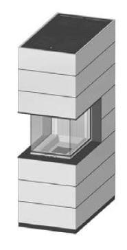 SIM Arte-U-70h-4S přírodní beton 3/3