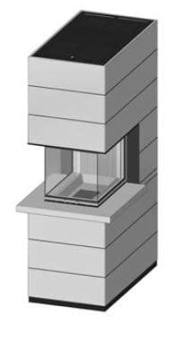 SIM Arte-U-70h-4S s parapetem jemný beton 3/3