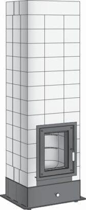 BRULA Feuerraum komplett Typ B/H 50×50 neomítnutý plášť Brula