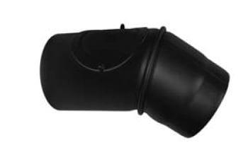Koleno otočné s čistícím otvorem 130/45/2 černé Stahl system