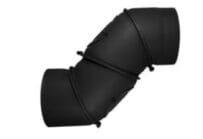 Koleno otočné UNI 4 segmenty-2 čistící otvory 250/2 černé Stahl system