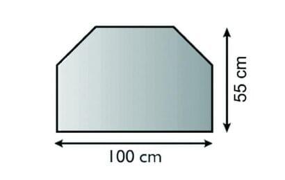 Sklo před kamna 3 hrany s fasetou, obdélník 100/55 cm tl. 6mm Lienbacher