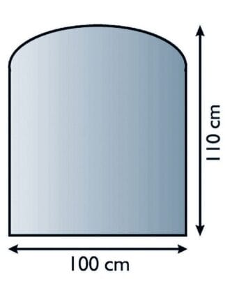 Sklo pod kamna půloblouk 100/110 cm tl. 8mm Lienbacher