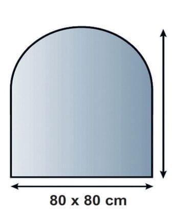 Sklo pod kamna půloblouk 80/80 cm tl. 8mm Lienbacher