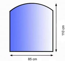 Sklo pod kamna půloblouk 85/110 cm tl. 8mm Lienbacher