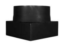 Přechodka čtvercová na kulatou 180×180/180/2 černá Stahl system