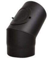 Koleno pevné s čistícím otvorem 130/45/2 černé Stahl system